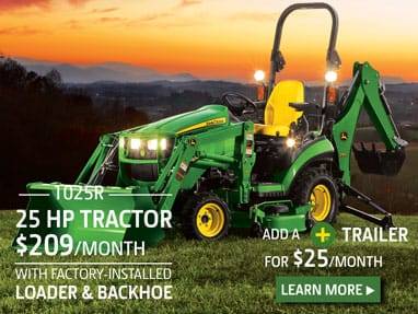 25 hp Tractor Package for $209 per month