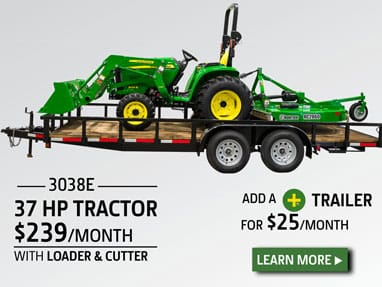 37 hp Tractor package for $239 per month