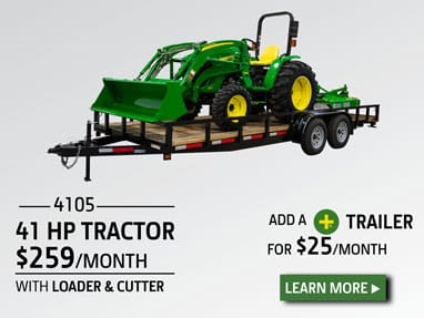 41 hp tractor package for $259 per month