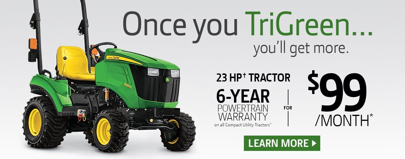 1023E Tractor only $99 a month