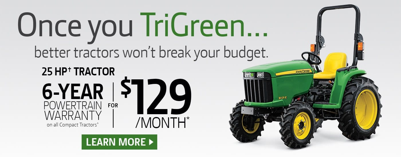 3025E Tractor only $129/month