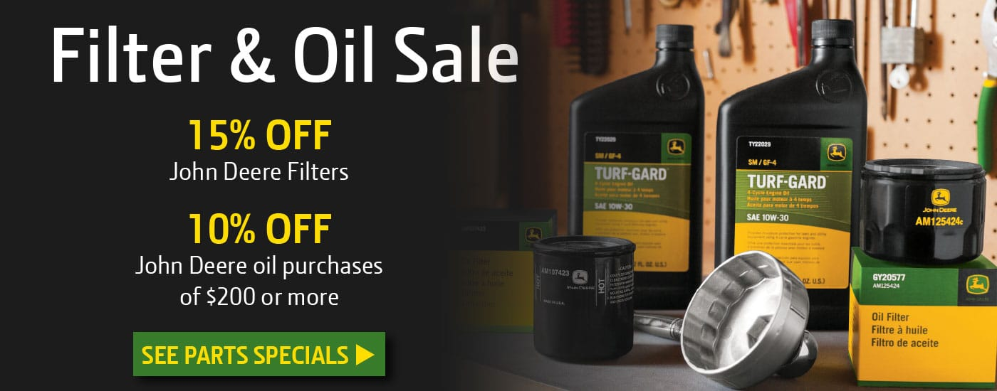 Filter and Oil Sale