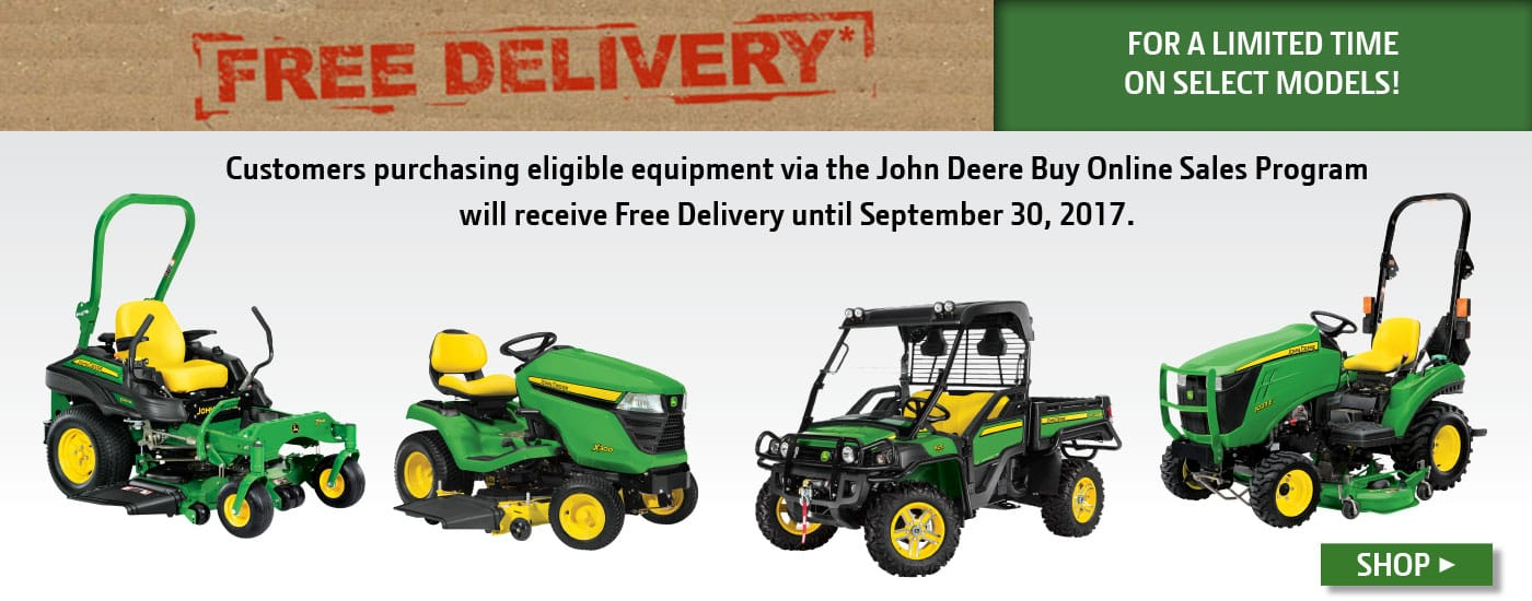 Free Delivery with select John Deere buy-online purchases