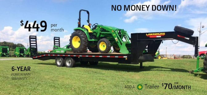 John Deere 66 horsepower tractor package special offer