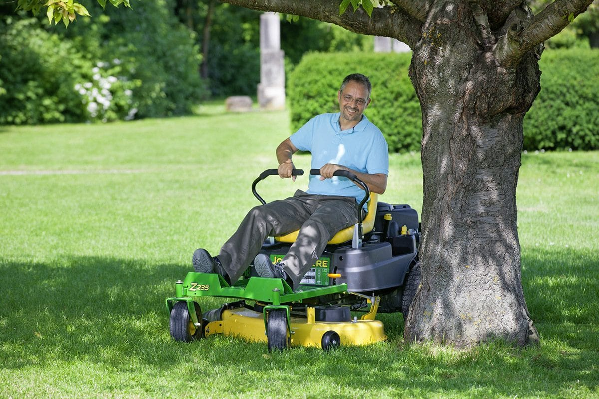 mowing-around-trees