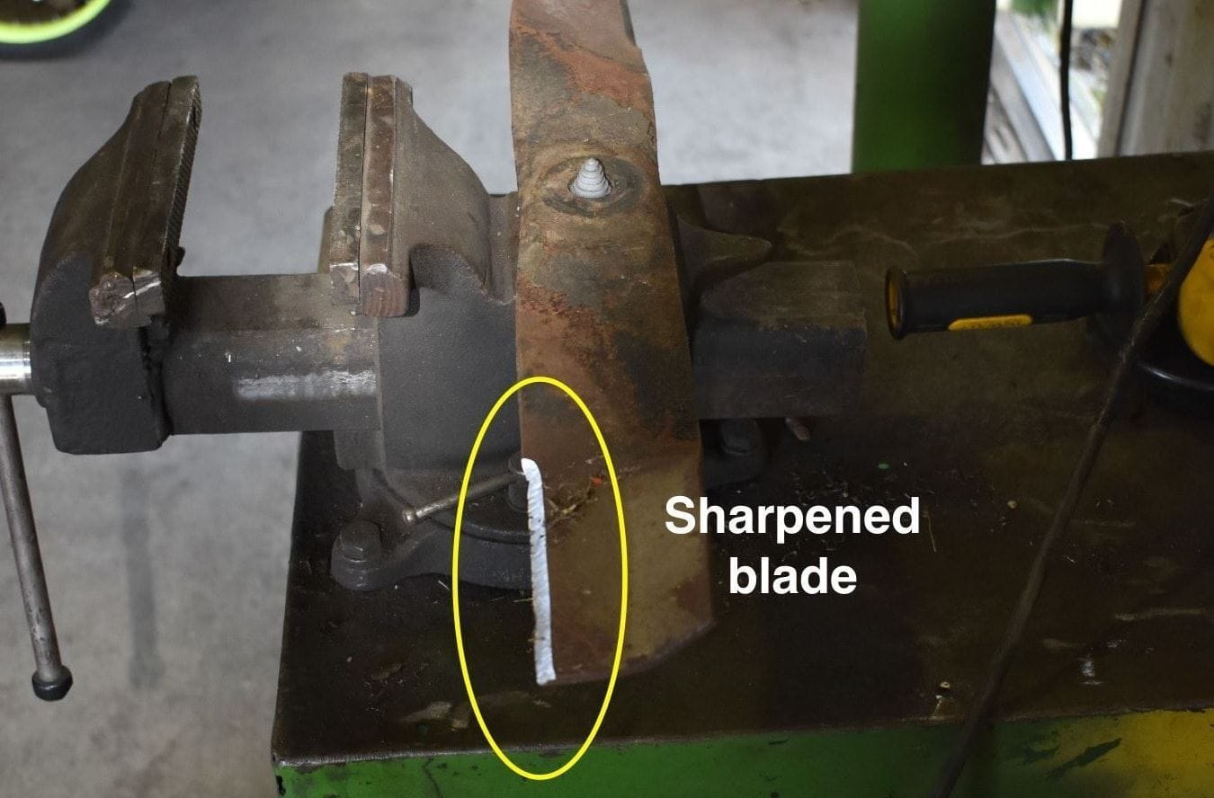 A step-by-step guide for sharpening your mower blades