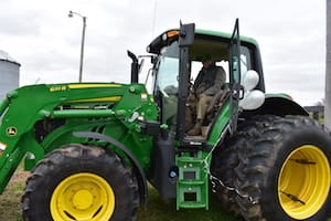 Jack Clift and John Deere tractor