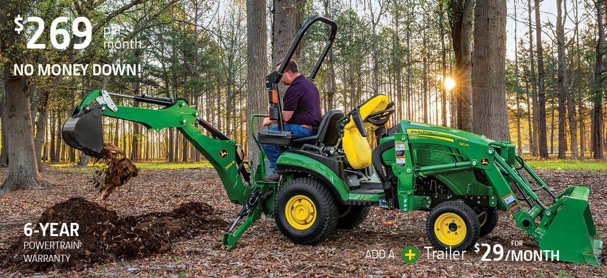 25 horsepower tractor package with loader and backhoe