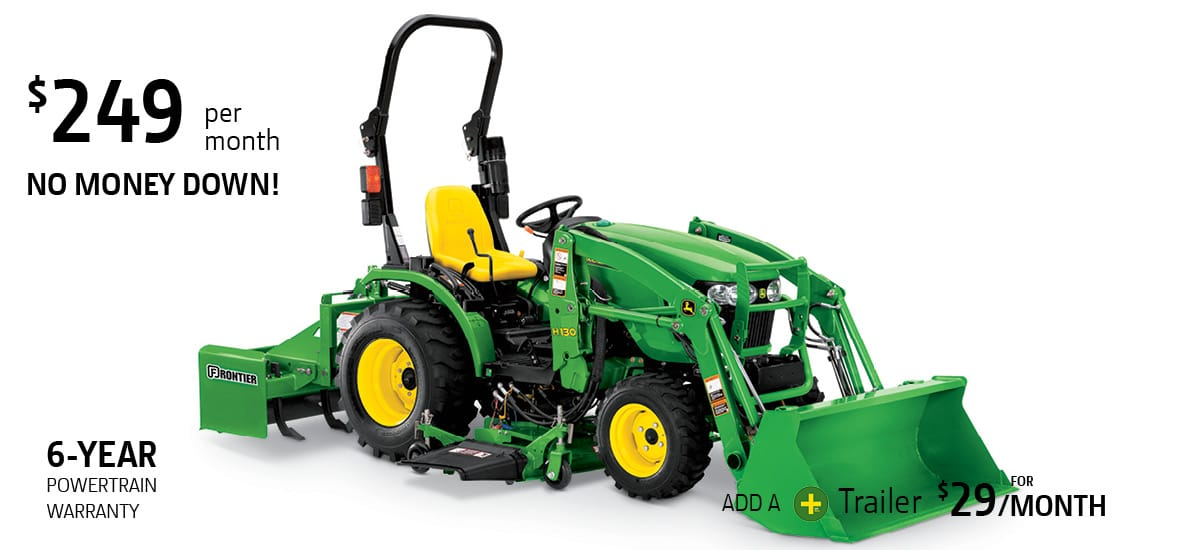John Deere 24 horsepower tractor package special offer