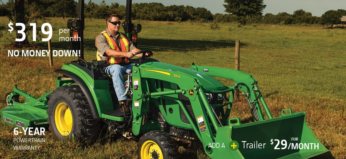 John Deere 31 horsepower tractor package special offer