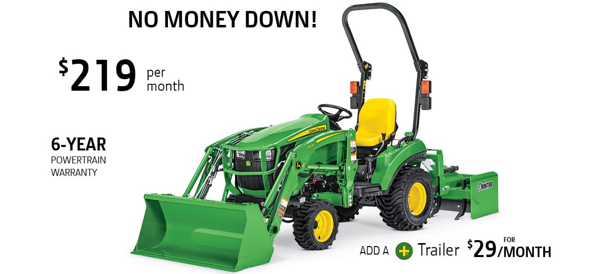 John Deere 1023E Tractor Package Special