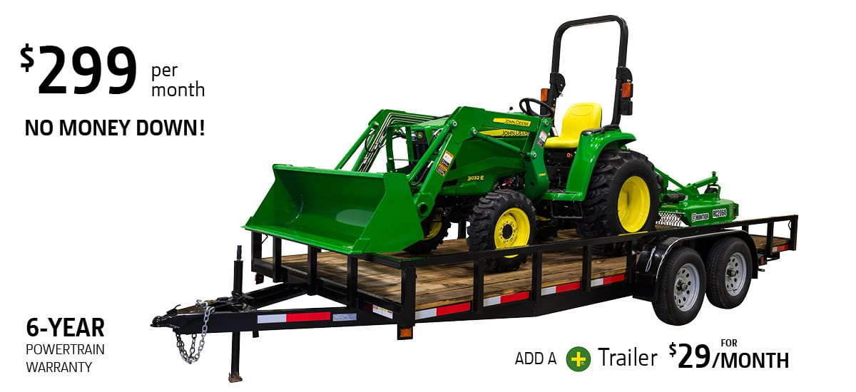 john deere 3032e tractor package special